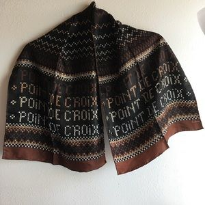 Vintage Echo Scarf, Point de Croix Print,